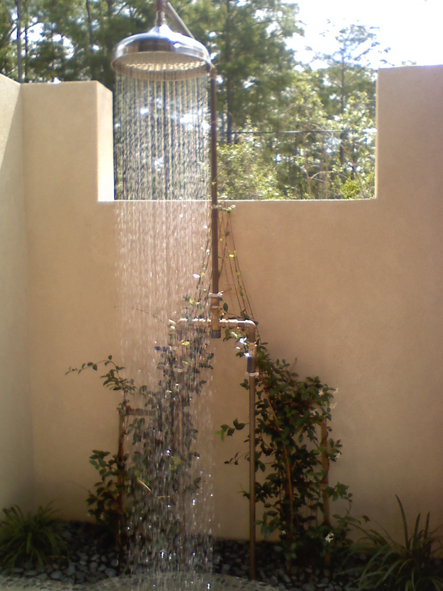 Custom Outdoor Shower - Estero, Florida